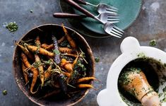 Roasted Carrots with Carrot Top Pesto | 30 Delicious Things To Cook In November