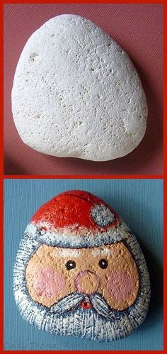 Painting Rock & Stone Animals, Nativity Sets & More: Before and After Painted Rocks: Christmas Holiday