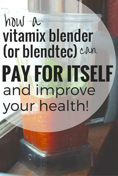 How a Vitamix Blender (or Blendtec) can pay for itself and improve your health vitamix smoothies Vitamix Blender, Blender Recipes, Healthy Soup Recipes, Eat Healthy, Cooks Blender, Vegan Vitamix Recipes, Vitamix Juice, Scd Recipes, Yogurt Recipes