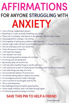 Affirmations for anxiety to help you calm down quickly. Affirmations for anxiety to help you calm down quickly. Affirmations for people struggling with anxiety. How to stop worrying. How to worry less. Stress and anxiety Deal With Anxiety, Anxiety Tips, Anxiety Help, How To Overcome Anxiety, Anxiety Thoughts, Anxiety Cure, Calming Anxiety, Inhale Exhale, Mental Health
