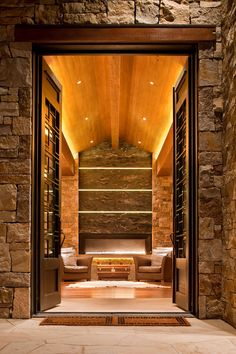 Outside The Cigar Room Via The Interior Architect. Now this is a cigar room! Interior Exterior, Home Interior, Luxury Interior, Modern Interior, Zigarren Lounges, Denver, Cigar Room, Mountain Living, Mountain Modern