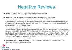 Dealing with negative reviews