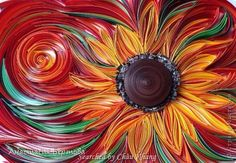 stranamasterov.ru/ The name of artist is written at the bottom, on the left- Quilled sunflowers pictures (Searched by Châu Khang)