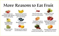 Eating a variety of fruits will better benefit your health as different fruits contain different vitamins and nutrients.