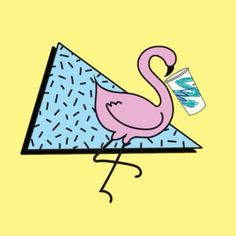 It's hot out here in LA today! Remember to stay hydrated  This thirsty flamingo…