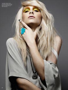 Andrej Pejic by Moo King for Fashion Canada. MUA Veronica Chu #makeup #fashion #magazine #editorial #model