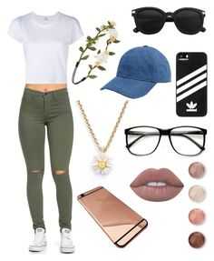 """Favorites"" by kaitlynkely on Polyvore featuring Kate Spade, adidas, Madewell, Forever 21, Terre Mère and Lime Crime"