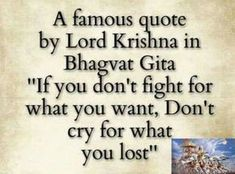 I came across this quote in social media. It's supposedly said by Sri Krishna in the Bhagavad Gita. Which verse of the Gita conveys the same message as the quote? Hinduism Quotes, Sanskrit Quotes, Spiritual Quotes, Positive Quotes, Spiritual Awakening, Karma Quotes, Reality Quotes, Wisdom Quotes, Words Quotes