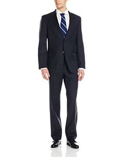 Tommy Hilfiger Men's Vasser Pin Stripe Side Vent Suit 2 Button
