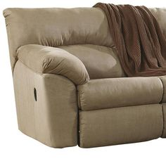 Nebraska Furniture Mart u2013 Ashley Amazon Mocha 2-Piece Reclining Sectional (basement couch) | House Inspiration - Furniture | Pinterest | Reclining sectional ...  sc 1 st  Pinterest & Nebraska Furniture Mart u2013 Ashley Amazon Mocha 2-Piece Reclining ... islam-shia.org