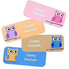 Namensaufkleber, selbstklebschulanfangnt, ideal für Kinder, Spuehlmachinen- und Mikrowellengeeignet