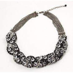 Rhinestone Cluster Necklace