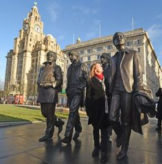 The Beatles statue unveiled at the Pier Head in Liverpool by John Lennon's sister Julia Baird.