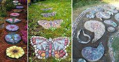 DADA IDEA: Pavaje - alei Diy Garden Projects, Garden Art, Stepping Stones, Landscape, Outdoor Decor, Handmade, Design, Home Decor, Art Ideas