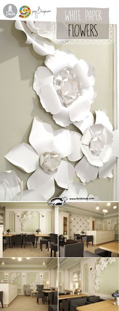 DIY White Paper Flowers