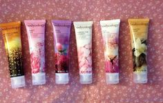 Lot of 6 BODYCOLOGY Moisturizing Body Cream Tubes -6 Fragrances- 2 oz each - NEW #Bodycology
