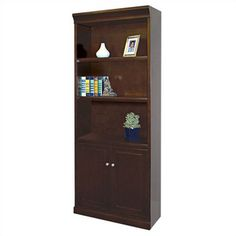 Fulton book case with lower cupboards