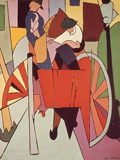 Alberto Magnelli - Workers on the cart, 1914