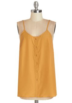 Cookout for the Day Top in Mustard. When the first warm weekend of the season rolls around, you'll be seated at your backyard picnic table, ready to relax in this mustard tank! #yellow #modcloth