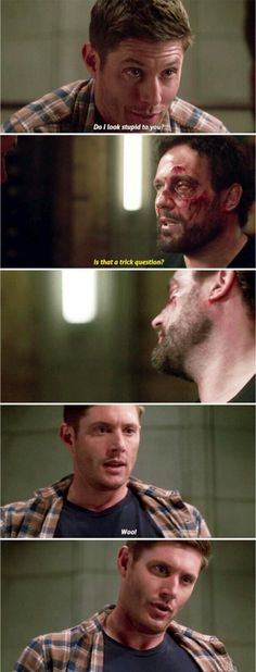 Supernatural 13x07 - War of the Worlds<< Why does Dean always end up going back to torturing someone???