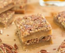 Maple Pecan Bars + a Giveaway! - Fifteen Spatulas