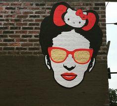 Frida & Hello Kitty street art