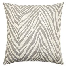 Understated Kenya pillow in steel takes a muted approach to the typically bold animal print. $69.95