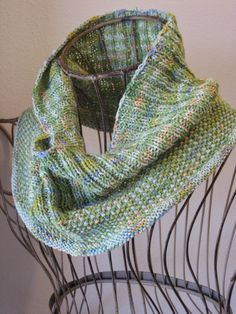 Water Lilies Cowl: made with roughly 250 yards of sock weight yarn and size 2 needles