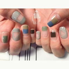 Negative space nail art ideas | minimal nail art