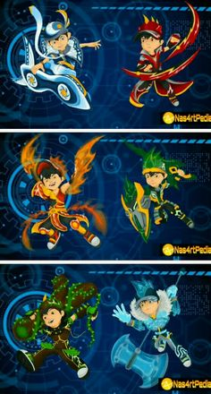 Elemental Powers, Boboiboy Anime, Boboiboy Galaxy, Clear Card, Eternal Love, Kamen Rider, Pikachu, Cartoons, Creatures