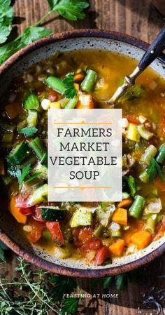 Vegetable Soup Healthy, Vegetable Soup Recipes, Healthy Vegetables, Healthy Soup, Vegetarian Recipes, Veggies, Cooking Recipes, Healthy Recipes, Best Veggie Soup