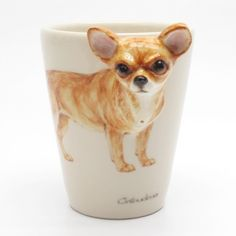 Chihuahua Mug 00008 Ceramic 3D Handle Pet Lover Art Craft Painting   madamepomm - Housewares on ArtFire