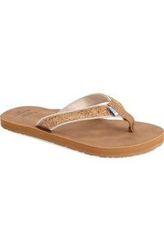 TOMS 'Solana - Cork Glitz' Flip Flop (Women) available at #Nordstrom