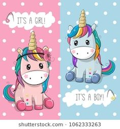 Find Baby Shower greeting card with Cute Unicorns boy and girl stock vectors and royalty free photos in HD. Explore millions of stock photos, images, illustrations, and vectors in the Shutterstock creative collection. Unicorn Drawing, Cartoon Unicorn, Unicorn Art, Cute Unicorn, Baby Shower Greetings, Baby Shower Greeting Cards, Baby Cards, Kids Cartoon Characters, Cartoon Kids