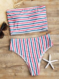 SHARE & Get it FREE | Striped Tube Top With High Cut Bikini Bottoms - Stripe MFor Fashion Lovers only:80,000+ Items • New Arrivals Daily Join Zaful: Get YOUR $50 NOW!