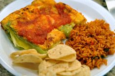 Two Thirty-Five Designs: Chili Rellenos Casserole