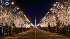 Andrássy út, Budapest - Hungary (Budapest, including the Banks of the Danube, the Buda Castle Quarter and Andrássy Avenue) Budapest Christmas, Budapest Winter, Winter Wonderland, Capital Of Hungary, World Heritage Sites, Christmas Lights, Christmas Time, Christmas Displays, Holiday Lights