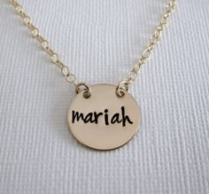 Gold Name Necklace  Personalized Name by PatriciaAnnJewelry, $39.50