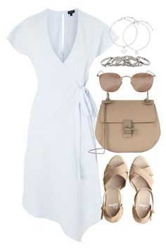A fashion look from July 2017 featuring knee-length dresses, strap sandals and handbag purse. Browse and shop related looks. Cute Fashion, Fashion Looks, Fashion Outfits, Womens Fashion, Spring Summer Fashion, Spring Outfits, Shoulder Off, Casual Outfits, Cute Outfits