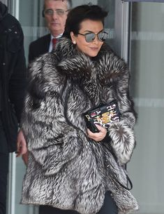 80 Bags and the Celebs Who Carried Them at Paris Fashion Week Fall 2016 Fur Fashion, Love Fashion, Winter Fashion, Womens Fashion, Fashion Guide, Fashion Week Paris, Fashion Weeks, Kris Jenner Style, Mens Fur