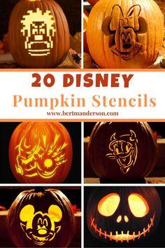Pumpkin Carving Disney Stencils, Amazing Pumpkin Carving, Pumpkin Carving Templates, Starwars Pumpkin Carving, Cool Pumpkin Stencils, Pumpkin Carvings, Pumpkin Art, Pumpkin Spice, Disney Halloween