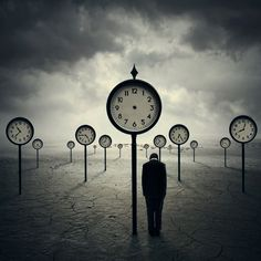 Surreal art ~ Clocks ~ Loneliness