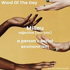 Word Of The Day! He grew up in a military MILIEU. • • • #milieu #wordoftheday #forthecuriosityofbooks #words #books #literature #photooftheday #school #definition #instagram Weird Words, Rare Words, Big Words, Cool Words, Foreign Language Teaching, Classroom Language, Learn A New Language, Language Logo, Language Quotes