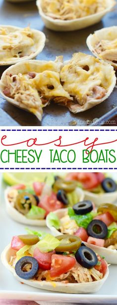 These Easy Cheesy Taco Boats are absolutely perfect as a quick weeknight dinner or a fun game day appetizer.  My four year old declared these the best dinner ever! #spon #TacoBoats #TacoBoatSweepstakes @oldelpaso