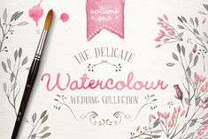 Watercolor Wedding Collection Vol. 1: Set Of Watercolor Beautiful Elements