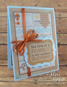 My Sheri Cards: The Stamp Simply Ribbon Store - Kaisercraft Homemade paper collection