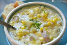 This easy Instant Pot potato corn chowder recipe is amazing It only takes 15 minutes to make and is the perfect creamy corn soup to eat all year long Chowder Recipes, Soup Recipes, Vegetarian Recipes, Cooking Recipes, Vegan Soups, Cooking Courses, Vegan Dinners, Vegan Vegetarian, Instant Pot Pressure Cooker