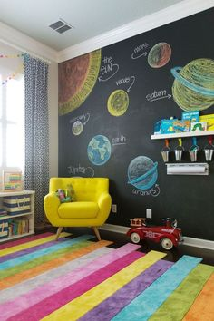 Stylish & Chic Kids Room Decorating Ideas - for Girls & Boys - # Check mor. - Stylish & Chic Kids Room Decorating Ideas – for Girls & Boys – # Check more at spielzeug. Baby Dekor, Decor Room, Home Decor, Playroom Decor, Kids Decor, Colorful Playroom, Colourful Bedroom, Room Decorations, Bedroom Colors