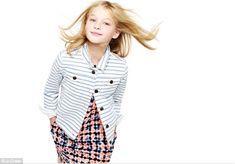 Pint-sized star: Ekaterina Samsonov has already modeled for the likes of DKNY, J Crew and Macy's