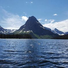 Boating and hiking around Two Medicine Lake made for a #perfect day in #glaciernationalpark!